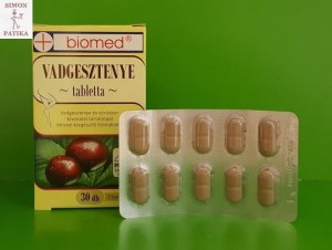 gesztenye visszér tabletta